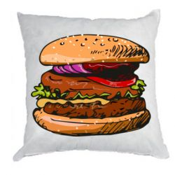 Подушка Hamburger hand drawn vector