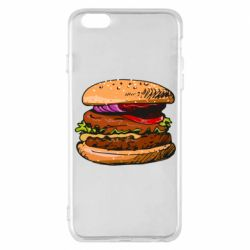 Чехол для iPhone 6 Plus/6S Plus Hamburger hand drawn vector
