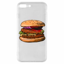 Чехол для iPhone 7 Plus Hamburger hand drawn vector