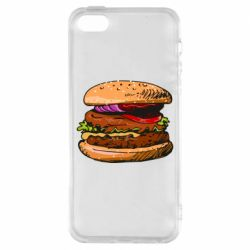 Чехол для iPhone5/5S/SE Hamburger hand drawn vector