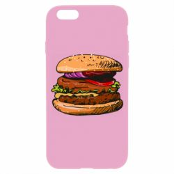 Чехол для iPhone 6/6S Hamburger hand drawn vector