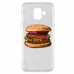 Чехол для Samsung A6 2018 Hamburger hand drawn vector