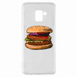 Чехол для Samsung A8+ 2018 Hamburger hand drawn vector