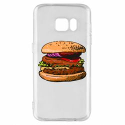 Чехол для Samsung S7 Hamburger hand drawn vector
