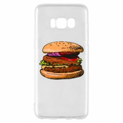 Чехол для Samsung S8 Hamburger hand drawn vector