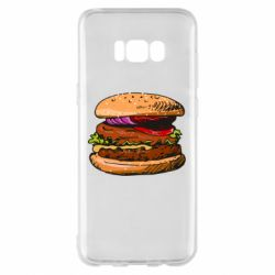 Чехол для Samsung S8+ Hamburger hand drawn vector