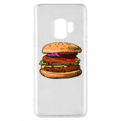 Чехол для Samsung S9 Hamburger hand drawn vector
