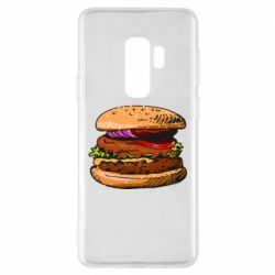 Чехол для Samsung S9+ Hamburger hand drawn vector