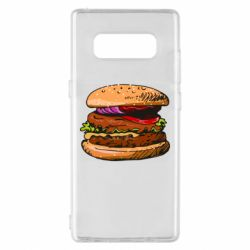 Чехол для Samsung Note 8 Hamburger hand drawn vector