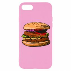 Чехол для iPhone 8 Hamburger hand drawn vector