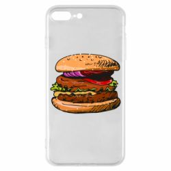 Чехол для iPhone 8 Plus Hamburger hand drawn vector