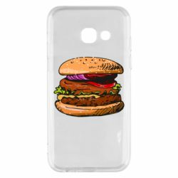Чехол для Samsung A3 2017 Hamburger hand drawn vector