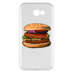 Чехол для Samsung A7 2017 Hamburger hand drawn vector