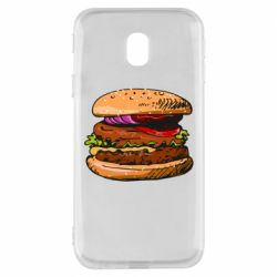 Чехол для Samsung J3 2017 Hamburger hand drawn vector