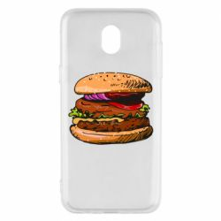 Чехол для Samsung J5 2017 Hamburger hand drawn vector