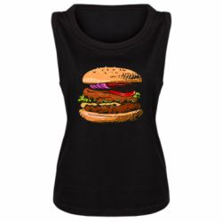 Женская майка Hamburger hand drawn vector