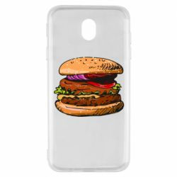 Чехол для Samsung J7 2017 Hamburger hand drawn vector