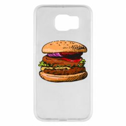 Чехол для Samsung S6 Hamburger hand drawn vector