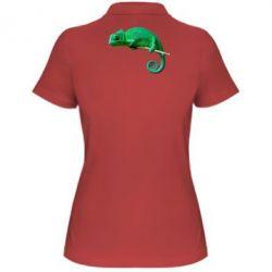 Женская футболка поло Хамелеон