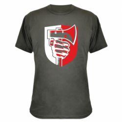 Камуфляжна футболка Hand and ax