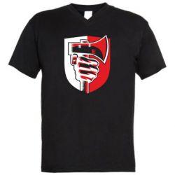 Чоловіча футболка з V-подібним вирізом Hand and ax