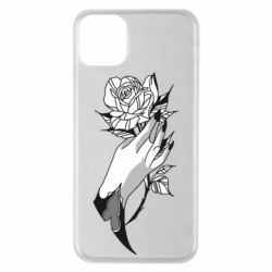 Чехол для iPhone 11 Pro Max Hand and rose