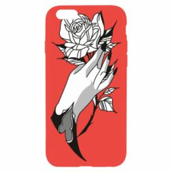 Чехол для iPhone 6/6S Hand and rose
