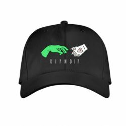 Дитяча кепка Hand of an alien and a cat Ripndip