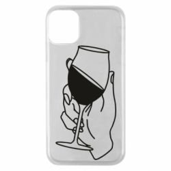 Чохол для iPhone 11 Pro Hand with a glass of wine