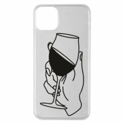 Чохол для iPhone 11 Pro Max Hand with a glass of wine