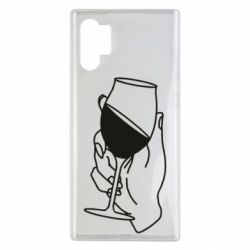 Чохол для Samsung Note 10 Plus Hand with a glass of wine