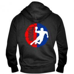 Мужская толстовка на молнии Handball Logo - FatLine
