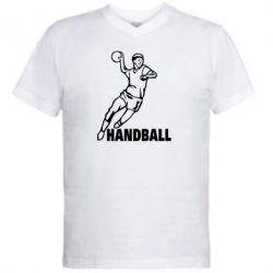 Мужская футболка  с V-образным вырезом Handball - FatLine