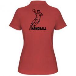 Женская футболка поло Handball - FatLine