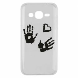 Чехол для Samsung J2 2015 Hands and heart