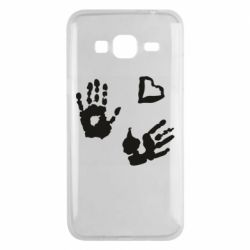 Чехол для Samsung J3 2016 Hands and heart