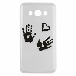 Чехол для Samsung J5 2016 Hands and heart