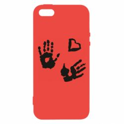 Чехол для iPhone5/5S/SE Hands and heart