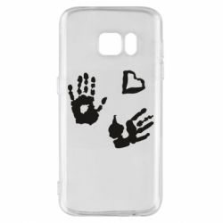 Чехол для Samsung S7 Hands and heart