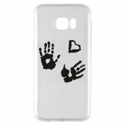 Чехол для Samsung S7 EDGE Hands and heart