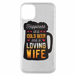 Чехол для iPhone 11 Pro Happiness is a good bear and a loving wife