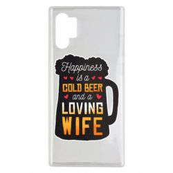Чехол для Samsung Note 10 Plus Happiness is a good bear and a loving wife