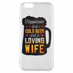 Чехол для iPhone 6/6S Happiness is a good bear and a loving wife