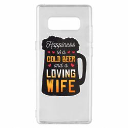 Чехол для Samsung Note 8 Happiness is a good bear and a loving wife