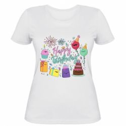 Жіноча футболка Happy Birthday