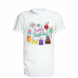 Подовжена футболка Happy Birthday