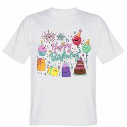 Чоловіча футболка Happy Birthday