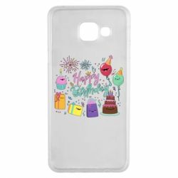 Чохол для Samsung A3 2016 Happy Birthday