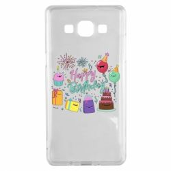 Чохол для Samsung A5 2015 Happy Birthday