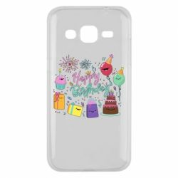 Чохол для Samsung J2 2015 Happy Birthday